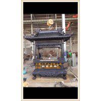 zy008铸铁长方形香炉厂家,寺庙大型铸铜长方形香炉生产厂家定做