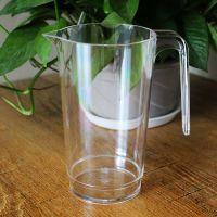 东莞塑料分酒壶鸿乐塑料杯厂家定制PS透明冷水壶670ml果汁饮料壶尖嘴壶