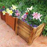 花箱防腐木户外室内花槽隔断种植箱组合花箱碳化木实木樟子松定制