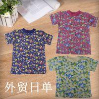 外贸日本中小童3-8岁印花圆领短袖T恤童装新款夏季纯棉舒适透气T衫内裤套装