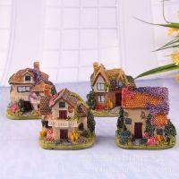 欧式乡村小房子房屋别墅 微景观树脂摆件创意工艺品小摆件批发