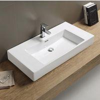 厂家直销陶瓷方形洗面盆单孔龙头开孔现代简约风格TB-1019