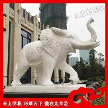 青石雕大象 寺庙门口石象 惠安神兽雕刻厂
