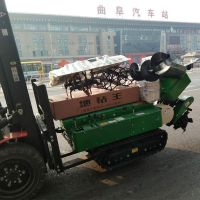 桔园开沟施肥机 自走式除草机 硬土地履带式开沟机 启航回填机