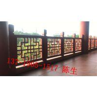 绍兴市古街装饰木纹铝窗花