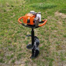 热销汽油二冲程挖坑机 手提螺旋式3.2马力挖洞机 志成植树机