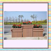 厂家制作木塑花箱 花园广场酒店装饰防腐木花箱 城市景观建设花箱