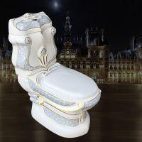 分体式高档大尺寸个性华丽陶瓷彩色陶瓷马桶