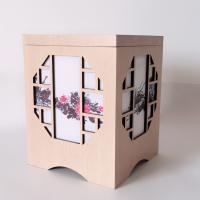 工厂定做木质木灯罩创意中国风会所密度板灯笼复古酒店茶楼木艺布艺灯罩