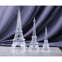 水晶模型定制工厂 北京哪里定做水晶工艺品 埃菲尔塔 旅游纪念礼品