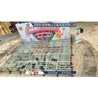 18107485979湖南玻璃舞台铝合金玻璃舞台钢化玻璃舞台透明舞台灯丝舞台