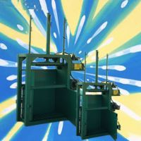 牛皮纸8吨立式打包机 青海废纸液压打包机 启航 双杠纸箱立式打捆压块机