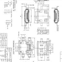 MICRO 沉板母座 7P沉板0.8MM四脚插板DIP+SMT卷边 雾锡