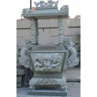 供应天然青石香炉石鼎石雕户外庭院寺庙寺院祭祀供奉用品