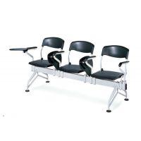 众晟家具培训排椅 带写字板连排学习椅 塑料会议培训记录椅子