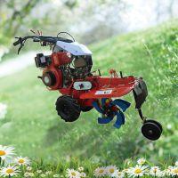 普航186F大葱开沟机 除草机图片 手扶式旋耕除草机可以加电启动