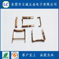 东莞五金冲压件,磷铜卡子,PQ2520铜夹,镀锡。