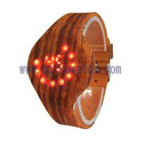 SPIKE手表厂家推出2018年时尚新款木纹热水转印表带LED电子手表