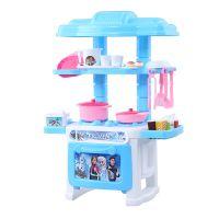 新款迷你儿童过家家厨房餐具台玩具仿真做饭餐具台套装女孩玩具