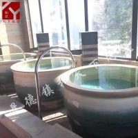 景德镇陶瓷浴缸 浴场洗浴大缸 陶瓷泡澡缸厂家