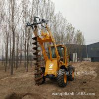 装载机改钻洞机铲车挖坑机钻孔机 冻土钻坑机螺旋挖坑机