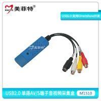 美菲特M1510 USB2.0单路标清CVBS/S-Video音视频采集盒录直播卡