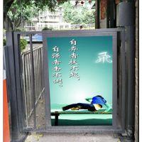 重庆渝北区荣博小区广告门安装,小区自动门销售安装