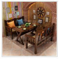 海德利北欧橡木西餐桌 胡桃色实木西餐桌 西餐厅家具-厂家定制直销