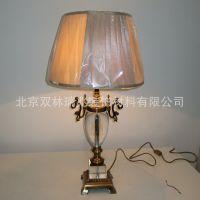欧式新款水晶台灯精致美观客厅书房卧室床头灯