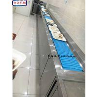 自动送餐配餐输送机,餐盘回收输送带