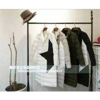 上海女装批发MISS FIVE 羽绒服时尚品牌折扣尾货走份女装批发市场