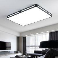 2018新款简约现代新中式长方形大气家用led吸顶灯卧室遥控灯具