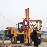 金旺装载机式护栏打桩机 全液压植桩机 公路护栏打桩压桩机桩基钻孔设备