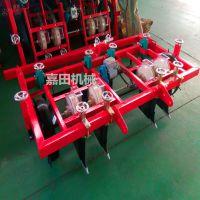 嘉田厂家热销 拖拉机带动花生播种机 多功能两行四行播种施肥覆膜机