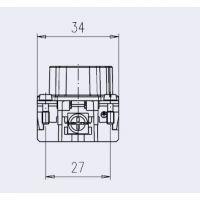 C146 10A010 102 1 安费诺10芯公插芯 带压线保护 适合螺钉连接方式