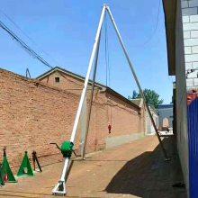 人工电线杆立杆拔杆 新型三角架拔杆 铝合金三角抱杆 洪涛电力 厂家直销
