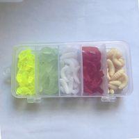 跨境货源 5色2.4cm路亚软饵套盒仿生蛆虫蠕虫面包虫批发