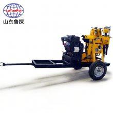 山东鲁探 百米液压钻井机 XYX-130 行走式地质钻探机 回转式钻机