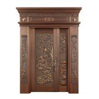 纯铜双开入户铜门、仿铜门 ,不锈钢铜门, 智能防盗门 ,北京地区免费测量安装.