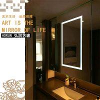 定制欧式壁挂无框浴室镜多功能带灯led化妆镜除雾洗手间卫浴镜子