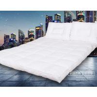 五星级酒店防尘床垫 全棉床笠式绗缝羽绒床垫保护垫 酒店用品批发定制