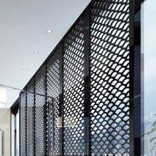 供应肇庆户外装饰白色氟碳铝网格板外墙金属拉伸板网菱形孔铝网板吊顶天花规格型号隔断装饰拉网板价格