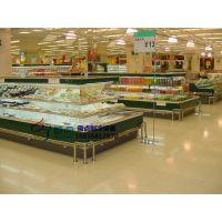 绵阳超市生鲜环岛柜,徽点定做中心立风柜,水果蔬菜环形岛柜价格