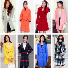 2018低价女装呢子外套 便宜女装呢子大衣批发厂家 韩版毛呢大衣外套批发货源