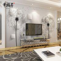 供应幸福居品牌瓷砖艺术电视背景墙 尺寸图案可任意定制