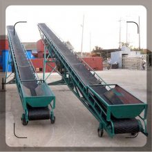 省人力货物装卸传送带 化肥装车输送机 防滑带式输送机