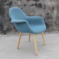 众美德批发布艺椅子现代简约酒店餐厅咖啡厅实木餐椅