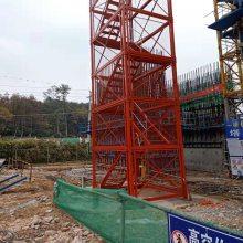 供应宁夏施工梯笼重庆箱式护网梯笼稳固耐用通达设计安装