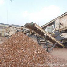 移动式建筑垃圾破碎站直销 定制各种产量移动破碎站 破碎机
