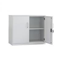 丰锰FM两层双开门文件柜FM-WH2-K-7(银灰色或白色,1块层板)新款